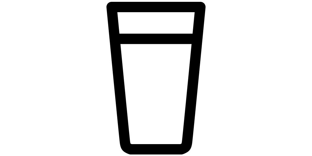 【ビール無料アイコン素材】ビールグラス(コニカル)