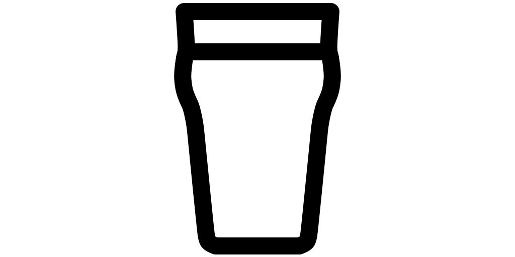 【ビール無料アイコン素材】パイントグラス(ノニック)