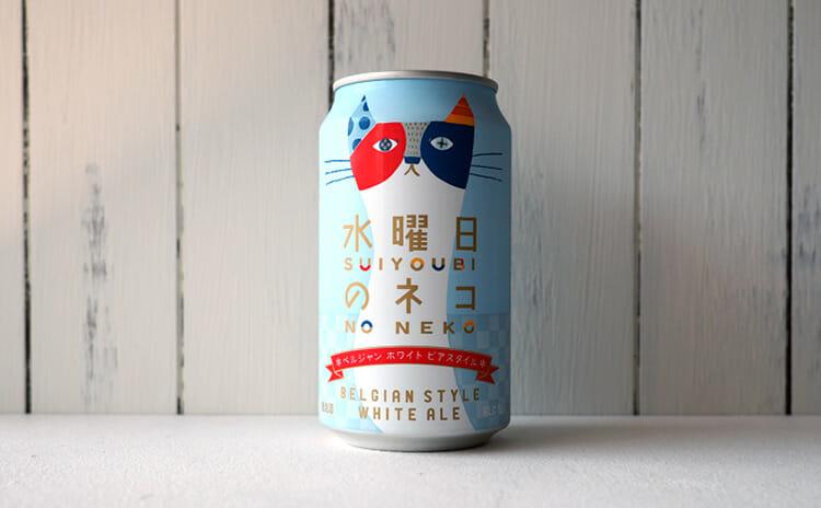 水色のボディがきれいな水曜日のネコの缶です!