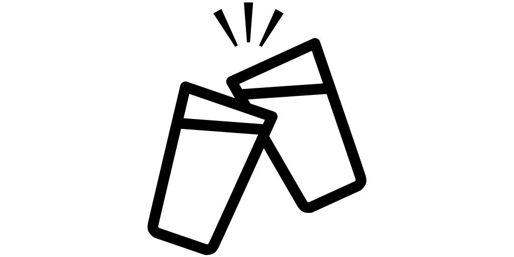 【ビール無料アイコン素材】乾杯(ビールグラス)