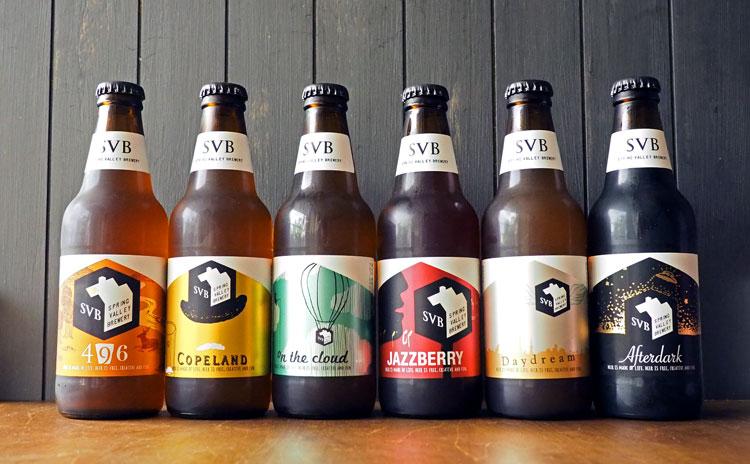 並んだスプリングバレーブルワリーのクラフトビール